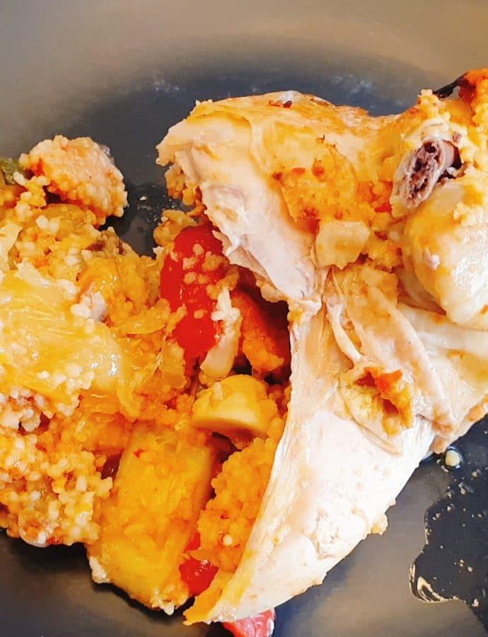 Kurczak z warzywami w stylu marokańskim